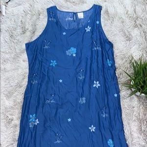 Disney Blue tropical Hawaiian beach dress